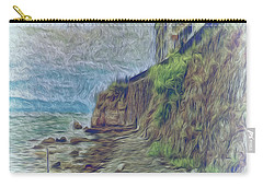 Carry-all Pouch featuring the photograph Corfu 33 - Corfu Rocks by Leigh Kemp