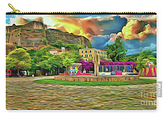 Carry-all Pouch featuring the photograph Corfu 32 - Near The Fortress by Leigh Kemp