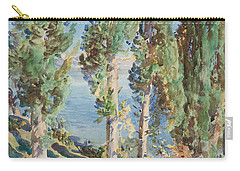 Corfu Cypresses Carry-all Pouch