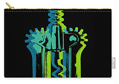 Carry-all Pouch featuring the digital art Corkscrew by Jean luc Comperat