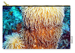 Carry-all Pouch featuring the photograph Corky Sea Finger Coral - The Muppet Of The Deep by Amy McDaniel