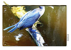 Carry-all Pouch featuring the photograph  Cormorant 000 by Chris Mercer