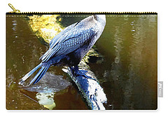 Carry-all Pouch featuring the photograph   Cormorant 001 by Chris Mercer