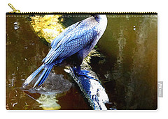 Carry-all Pouch featuring the photograph   Cormorant 002 by Chris Mercer