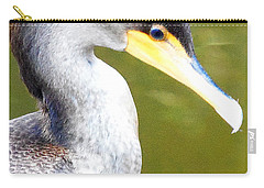 Carry-all Pouch featuring the photograph    Cormorant 003 by Chris Mercer