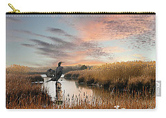 Cormorant At Sunset Carry-all Pouch