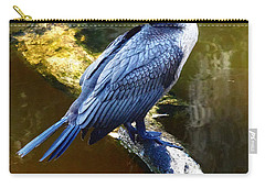 Carry-all Pouch featuring the photograph Cormorant  by Chris Mercer
