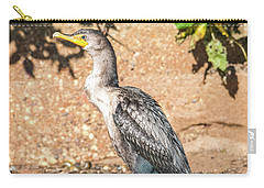 Carry-all Pouch featuring the photograph Cormorant On Shore by Paul Freidlund