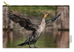 Cormorant Shaking Off Water Carry-all Pouch