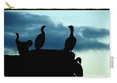 Cormorants In Silhouette Carry-all Pouch by Victoria Harrington