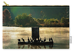 Cormorants On Misty Lake Carry-all Pouch