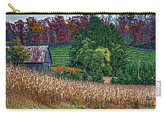 Corn And Ginseng On Poverty Hill Carry-all Pouch by Trey Foerster