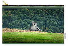 Carry-all Pouch featuring the photograph Corn Field Silo by Marvin Spates