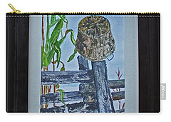 Carry-all Pouch featuring the painting Corn Picking Time by Jack G Brauer