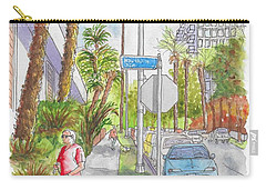 Corner Of Hawthorn And Formosa In Hollywood, California Carry-all Pouch