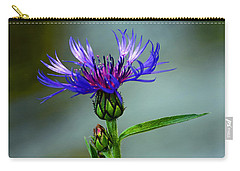 Carry-all Pouch featuring the photograph Cornflower by Rodney Campbell