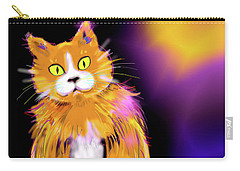 Carry-all Pouch featuring the painting Cornmuffin Dizzycat by DC Langer