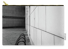 Carry-all Pouch featuring the photograph Corridor In Black And White by Bruce Carpenter
