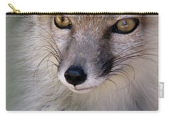 Carry-all Pouch featuring the photograph Corsac Fox- Vulpes Corsac 03 by Ausra Huntington nee Paulauskaite