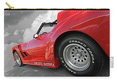 Carry-all Pouch featuring the photograph Corvette Daytona by Gill Billington