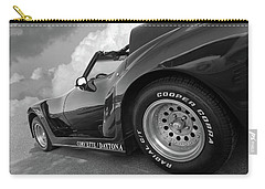 Corvette Daytona In Black And White Carry-all Pouch by Gill Billington