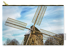 Carry-all Pouch featuring the photograph Corwith Windmill Long Island Ny Cii by Susan Candelario