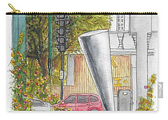 Cosimo Pizzuli Sculpture In Wilshire Blvd. And Robertson, Beverly Hills, California Carry-all Pouch