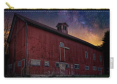 Carry-all Pouch featuring the photograph Cosmic Barn Square by Bill Wakeley
