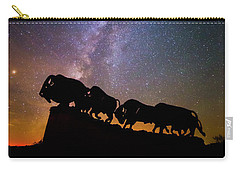 Carry-all Pouch featuring the photograph Cosmic Caprock Bison by Stephen Stookey