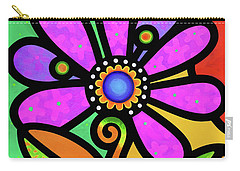 Cosmic Daisy In Pink Carry-all Pouch