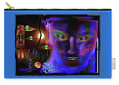 Carry-all Pouch featuring the painting Cosmic  Dream by Hartmut Jager