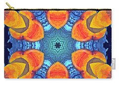 Carry-all Pouch featuring the painting Cosmic Fluid by Derek Gedney