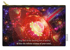 Carry-all Pouch featuring the mixed media Cosmic Inspiration God Source by Shawn Dall