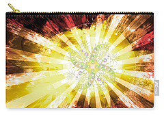 Cosmic Solar Flower Fern Flare 2 Carry-all Pouch by Shawn Dall