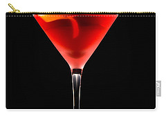 Cosmopolitan Cocktail In Front Of A Black Background  Carry-all Pouch