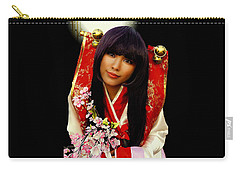 Cosplayer In Japanese Costume Carry-all Pouch