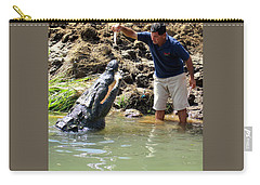 Costa Rica Crocodile 3 Carry-all Pouch by Randall Weidner