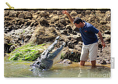 Costa Rica Crocodile 4 Carry-all Pouch by Randall Weidner