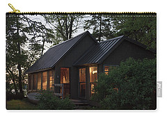 Carry-all Pouch featuring the photograph Cosy Cabin In The Woods by Gary Eason