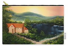 Cottage By Lake Carry-all Pouch