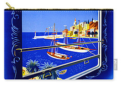 Cote D'azur Vintage Poster Restored Carry-all Pouch