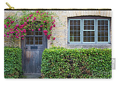 Carry-all Pouch featuring the photograph Cotswolds Cottage Home by Brian Jannsen