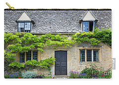 Carry-all Pouch featuring the photograph Cotswolds Cottage Home II by Brian Jannsen