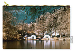 Cottage On The Lake Carry-all Pouch by Helga Novelli
