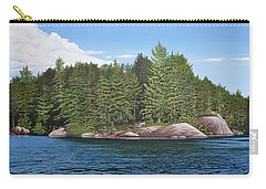 Carry-all Pouch featuring the painting Cottage View Silver Lake by Kenneth M Kirsch