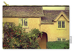 Cottage With A Picket Fence Carry-all Pouch by Jill Battaglia