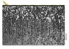 Cotton Abstract In Black And White Carry-all Pouch