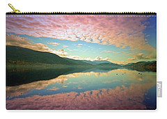 Carry-all Pouch featuring the photograph Cotton Candy Clouds At Skaha Lake by Tara Turner