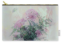 Carry-all Pouch featuring the photograph Cotton Candy Dreams by Linda Lees