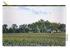 Carry-all Pouch featuring the photograph Cotton Field In Georgia by Jan Amiss Photography